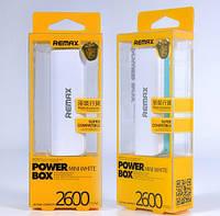 Внешний аккумулятор power bank Remax 2600 mAh (original)