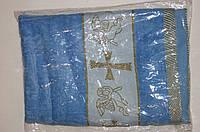 Крыжма-полотенце махровое синее.