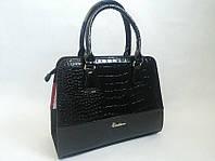Черная лаковая сумка украинского производителя 0603