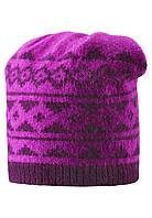 Вязанная зимняя шапка для девочки Reima 528487-4620. Размер 52-56.