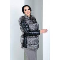 Женская  меховая куртка трансформер  из чернобурки
