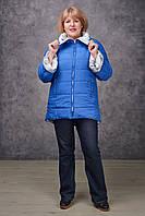 Демисезонная женская куртка NewMark Риана (синий, голубой)