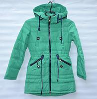 Демисезонна  куртка-парка  для дівчинки 6 -14 років RedBlack зелена