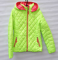 Демисезонна  куртка  для дівчинки 6 -14 років RedBlack салатова