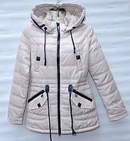 Демисезонна  куртка-парка  для дівчинки 6 -14 років RedBlack біла