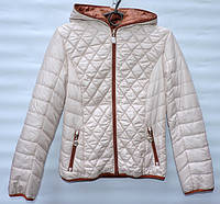 Демисезонна  куртка  для дівчинки 6 -14 років RedBlack бежева