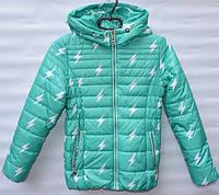 Демисезонна  куртка  для дівчинки 6 -14 років  Electric м'ятна