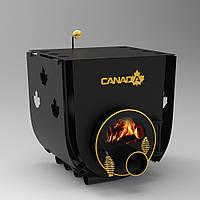 """Канадская печь """"Canada"""" с перфорацией и стеклом мощностью 28 кВт"""