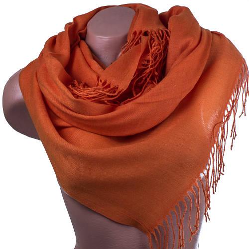 Яркий женский хлопковый палантин 171 на 69 см OZSOY AKSESUAR (ОЗСОЙ АКСЕСУАР) SAT11073 оранжевый