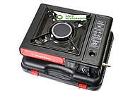 Портативня газовая плита-обогреватель Happy Home с керамической горелкой в кейсе. Переходник для баллона
