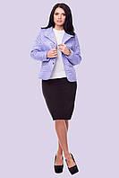Легкая короткая стеганная женская куртка размера 48-56