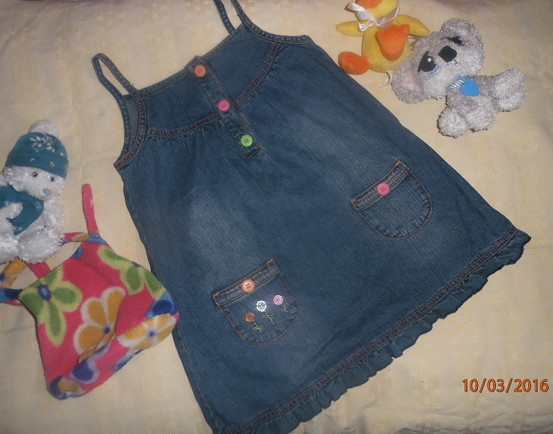 Шикарный джинсовый сарафанчик для малышки