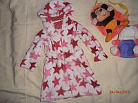 Классный яркий махровый халат для девочки