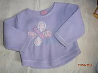 Милая фиолетовая флисовая кофточка для девочки