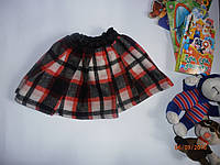 Короткая теплая юбка на резинке
