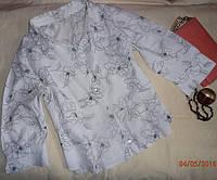 Красивая короткая летняя блузка-рубашка