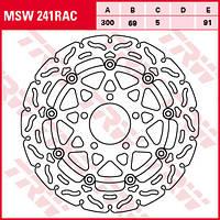 Тормозной диск передний для мотоцикла SUZUKI  TRW / LUCAS MSW241RAC