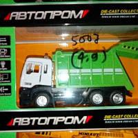 Детская металлическая машина мусоровоз 5007