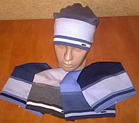 Стильная демисезонная детская шапка тонкая вязка