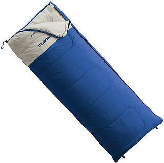 Спальный мешок Ferrino Travel/+10°C Blue (Left) 922930, синий / бежевый