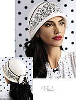 Красивая женская шляпка белая VLADA