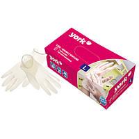 Виниловые перчатки одноразовые York Y-092430 (100 шт, Польша, размер, S)