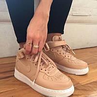 "Кроссовки Nike Air Force High ""Beige/White"""