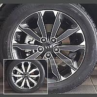 Новый (Made in Korea) карбоновые накладки на диски R18 Kia Sportage 2017+