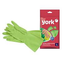 Перчатки резиновые York Y-092140 (АЛОЭ, Польша, размеры S,M,L)