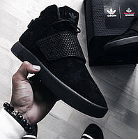 "Кроссовки Adidas Tubular Invader Strap ""All Black"""