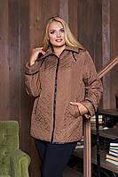 """Женская куртка-ветровка Arizzo """"Стежка"""" коричневый"""