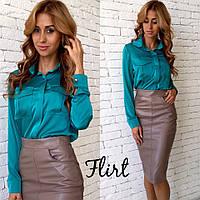 Женская стильная шелковая блуза (5 цветов)