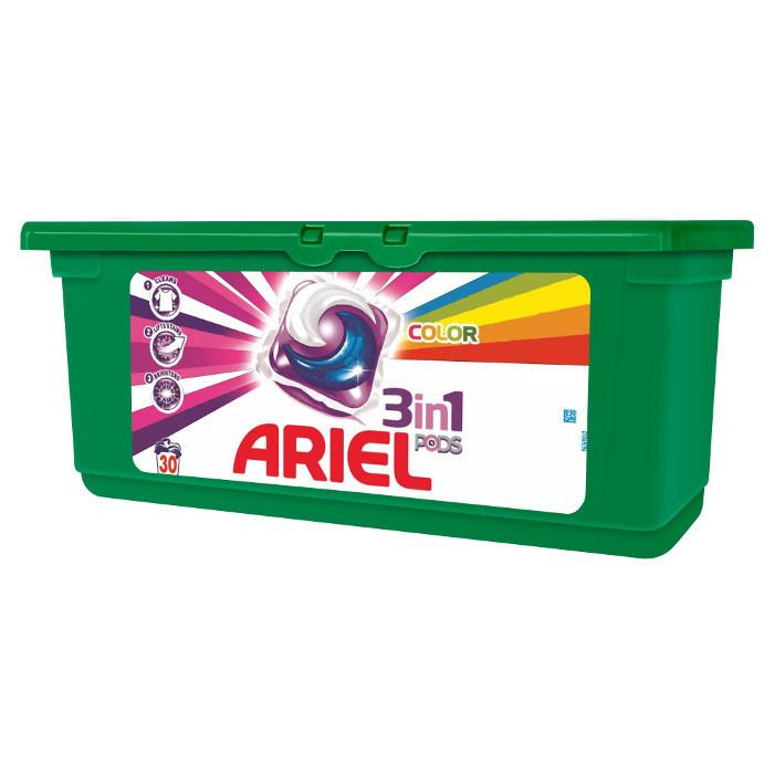 Капсулы для стирки Ariel color 3в1 30 шт