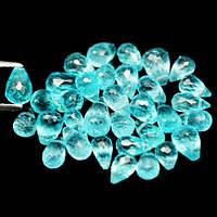 Натуральные камни для изделий -  АПАТИТ ПАРАИБА