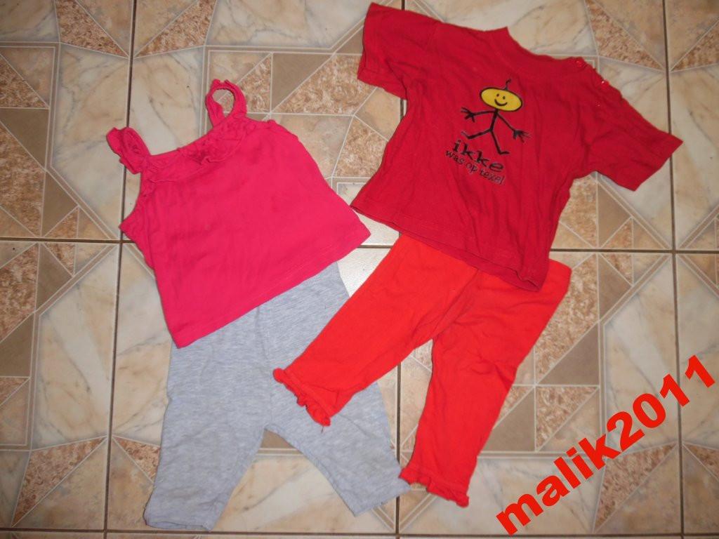 Двое лосин,футболка,майка для девочки.с 6м до1.5г