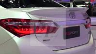 Lip Spoiler (лип спойлер багажника - сабля) со стоп сигналом ESPORT Toyota corolla XI (тойота королла 2013+)