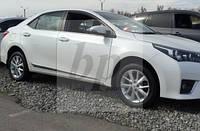 Молдинг боковых дверей хром нержавеющая сталь Toyota corolla XI (тойота королла 2013+)