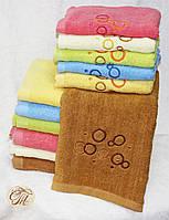 Полотенце для лица и рук Круги коричневые