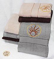 Полотенце для лица и рук Солнце на сером
