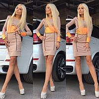 Женское стильное платье с длинным рукавом (+большие размеры)