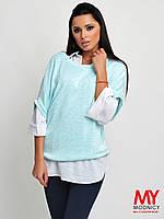 Двойка: блуза и безрукавка 3296