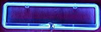 Рамка под номер с неоновой подсветкой СИНЯЯ