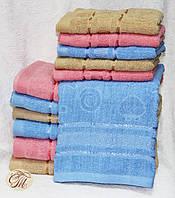 Полотенце банное Жжакард голубой