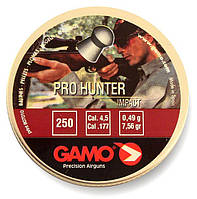 Пули для пневматического оружия, пули Gamo Pro Hunter 0,49г, 4,5 мм, 250 шт/уп.