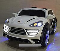 Лицензионный электромобиль Porsche Cayenne M 2735 EBLR-1 колеса EVA, кож сиденье