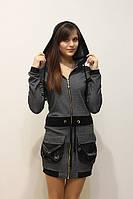 Женская кофта-кардиган Cop.copine темно-серый
