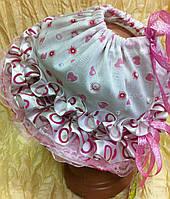 Кружевная шляпка панамка из батиста лент и кружев