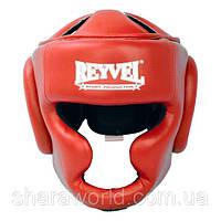 Шлем боксерский тренировочный Reyvel /Винил /Размер: L/ Цвет: красный, синий, черный, белый