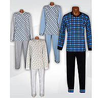 Пижама теплая трикотажная мужская Комби с начесом. р.р.40-58