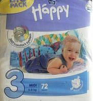 Детские подгузники HAPPY BELLA MIDI 3 - 72шт.(5-9 кг)